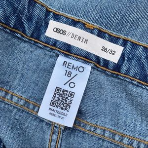 ASOS Jeans - ASOS Remo Denim Crop Jeans Button Fly Raw Hems 22